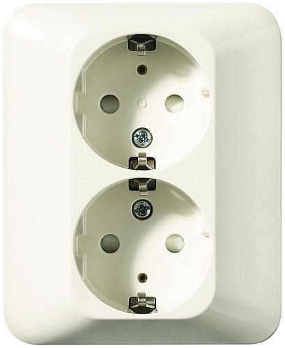 Strålande Vägguttag Eljo Trend infälld 2-vägs från Schneider Electric. EE-64