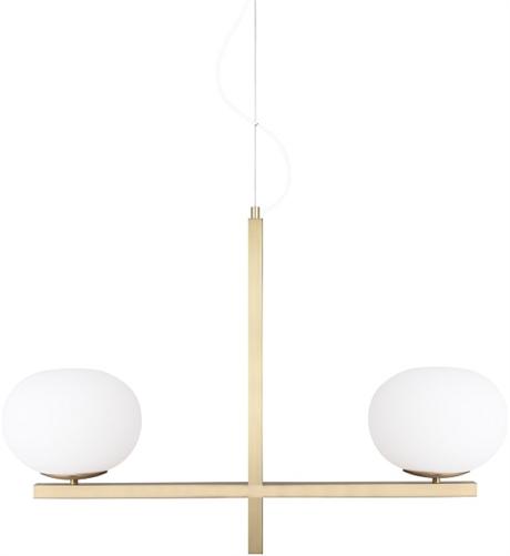 Köp Taklampa Gemini Borstad mässing Globen Lighting online ELDIREK