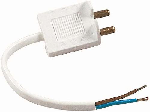Lampkontakt med sladd. För enkel montering och koppling i
