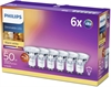 LED GU10 Philips 6 pack